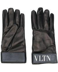 Valentino - Garavani Fur-lined Logo Gloves - Lyst