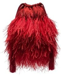 Attico - Ostrich Feather Pouch - Lyst