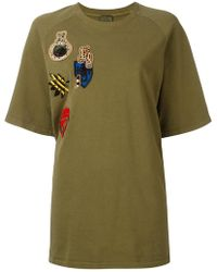 Mr & Mrs Italy - Oversized Multipatch T-shirt - Lyst