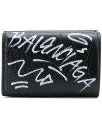 Balenciaga - Маленький Кошелек С Логотипом В Стиле Граффити - Lyst