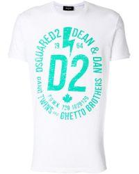 DSquared² - T-Shirt mit Logo-Print - Lyst