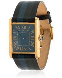 La Californienne - Blue Cartier Tank Cosmos Dusk Watch - Lyst