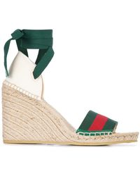 Gucci - Beach Wedged Sandals - Lyst