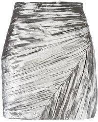 Saint Laurent - Pleated Mini Skirt - Lyst