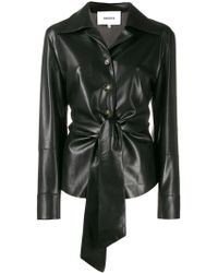 0c5ef1218db4 & Other Stories Leather Button Up Overshirt in Black - Lyst