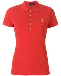 Polo Ralph Lauren - Embroidered Logo Polo Shirt - Lyst