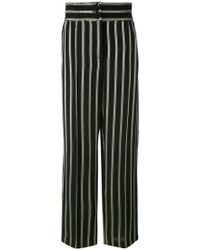 Etro - Striped Straight Trousers - Lyst