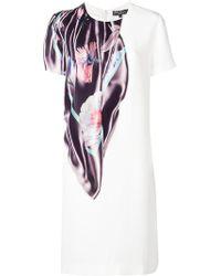 Ferragamo - Robe à détail à imprimé - Lyst