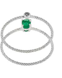 Wouters & Hendrix - Emerald & Diamond Set Of Two Rings - Lyst