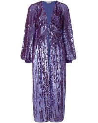 Attico - Sequined Bell Sleeve Coat - Lyst