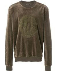 Versace - Embroidered Medusa Sweatshirt - Lyst