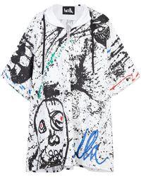 Haculla - Paint Canvas Poncho Coat - Lyst