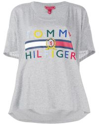 Tommy Hilfiger - High Low Logo T-shirt - Lyst
