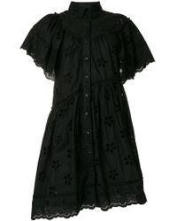 Simone Rocha - Broiderie Anglaise Shirt Dress - Lyst