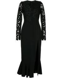 David Koma - Lace Embroidered Midi Dress - Lyst