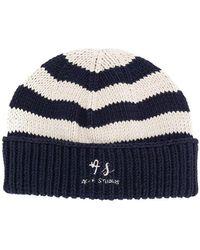 533a4b3e92b Acne Studios - Striped Skull Beanie Hat - Lyst