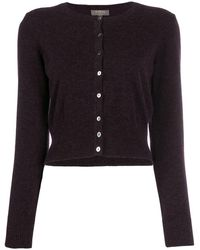 N.Peal Cashmere Cropped Cardigan - Purple