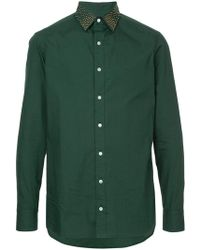 Kolor - Stud-collar Fitted Shirt - Lyst