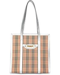 4a2cae0ce095 Burberry Runway Ss18 Reversible Check Tote Bag - Lyst
