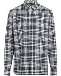 007f5fbbbb5e Burberry Brit Checked Shirt in Gray for Men - Lyst