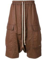 Rick Owens - Pantalones cortos fluidos con cordón - Lyst