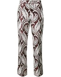 Giambattista Valli - Embroidered Cropped Trousers - Lyst