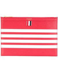 Thom Browne - 4-bar Stripe Leather Tablet Holder - Lyst