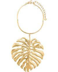 Oscar de la Renta - Monstera Leaf Necklace - Lyst