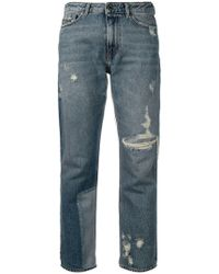 Diesel Black Gold - Straight Jeans With Bleached Patch - Lyst