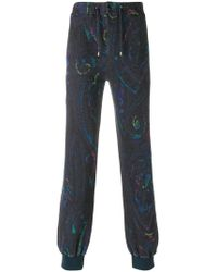 Etro - Paisley Print Track Trousers - Lyst