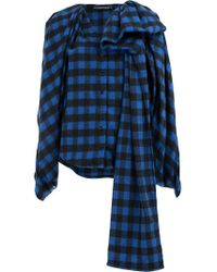 Y. Project - Checked Asymmetric Blouse - Lyst