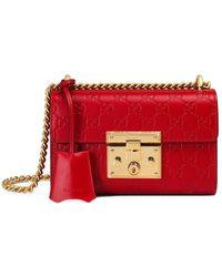 9f58813a8d00 Lyst - Gucci - Padlock Bengal Top Handle Bag - Women - Leather ...