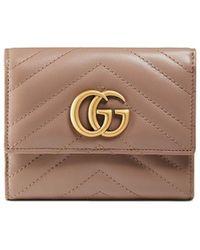 Gucci - GG Marmont Matelassé Wallet - Lyst
