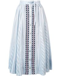 lemlem Nefasi Button-down Full Skirt