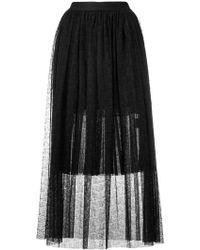 Gaëlle Bonheur - Pleated Sheer Skirt - Lyst