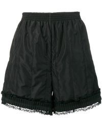 MM6 by Maison Martin Margiela - Lace-trimmed Shorts - Lyst