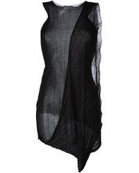 Masnada - Draped Sleeveless Knit Top - Lyst