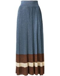 Altea - Knitted Pleated Skirt - Lyst