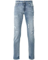 Dolce & Gabbana - Distressed Jeans - Lyst