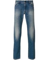 Fendi - Stonewashed Jeans With Embroidery - Lyst