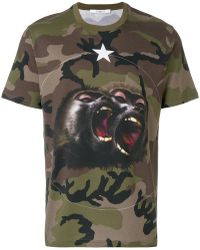 Givenchy - Monkey Brothers Motif Camouflage T-shirt - Lyst