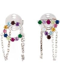 Eshvi - 18kt White Gold Gemstone Earrings - Lyst