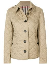 Burberry | Diamond Quilted Jacket | Lyst