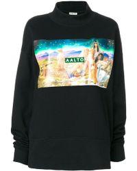 AALTO - Airbrush Print Sweatshirt - Lyst