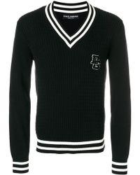 Dolce & Gabbana - Knitted Varsity Jumper - Lyst