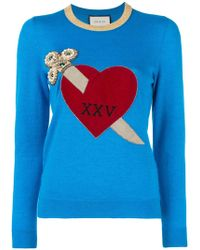 Gucci - Heart And Dagger Motif Sweater - Lyst