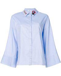 Dondup - Embellished Collar Flared Sleeve Shirt - Lyst