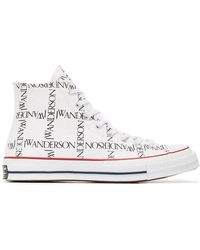 Converse - X Jw Anderson White Logo Print Trainers - Lyst