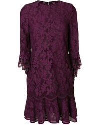 Talbot Runhof - Floral Lace Dress - Lyst