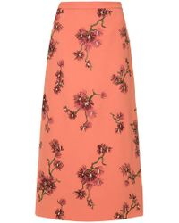 Erdem - Floral Midi Skirt - Lyst